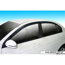 Auto Clover Дефлекторы окон на KIA RIO II '05-11 седан (накладные)