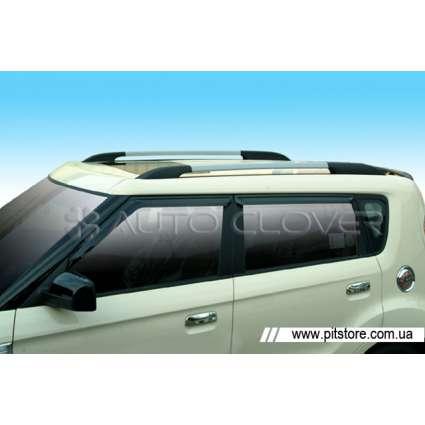 Auto Clover Дефлекторы окон на KIA SOUL I '08-13 (накладные)