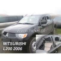 Team Heko Дефлекторы окон на Mitsubishi L200 IV '06-15 (вставные)