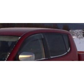 EGR Дефлекторы окон на MITSUBISHI L200 IV '06- дымчатые (накладные)