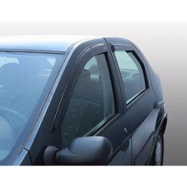 Azard Дефлекторы окон на Renault Logan I '04-12/Dacia Logan  I '04-12 (ПК, накладные)
