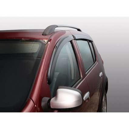 Azard Дефлекторы окон на Renault Sandero/Dacia Sandero I '07-12 (ПК, накладные)