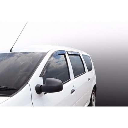 Azard Дефлекторы окон на Renault Logan MCV/Dacia  Logan MCV I '06-12 (ПК, накладные)