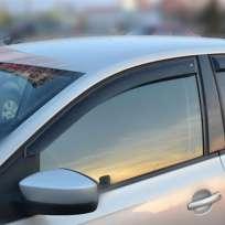 COBRA TUNING Дефлекторы окон на Volkswagen Polo V '09- седан (накладные)