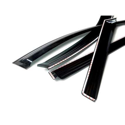 Auto Clover Дефлекторы окон на HYUNDAI SANTA FE III '12- (накладные)