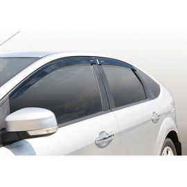 Azard Дефлекторы окон на Ford Focus II '04-11 хэтчбек (ПК, накладные)