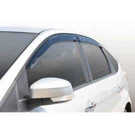 Azard Дефлекторы окон на Ford Focus II '05-10 седан (ПК, накладные)