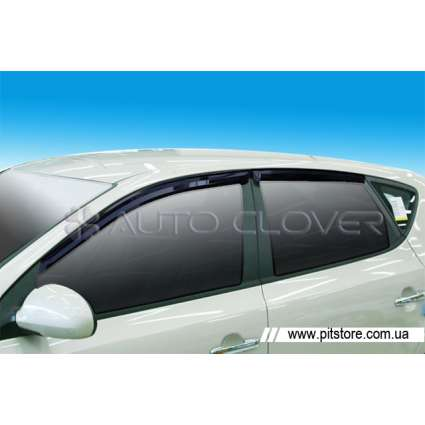 Auto Clover Дефлекторы окон на HYUNDAI I-30 '07-11 (накладные)