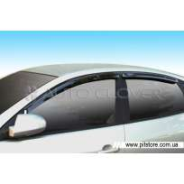 Auto Clover Дефлекторы окон на HYUNDAI ELANTRA IV '06-10 (накладные)