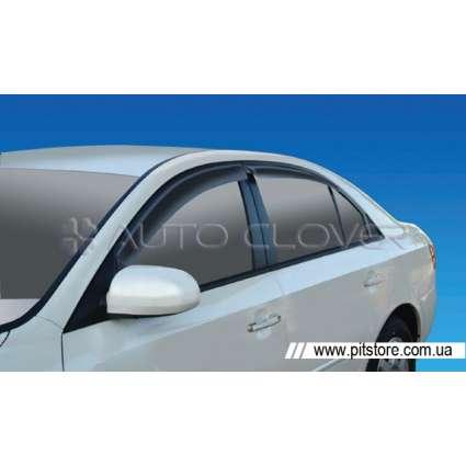Auto Clover Дефлекторы окон на HYUNDAI SONATA V '05-10 (накладные)