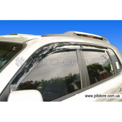 Auto Clover Дефлекторы окон на HYUNDAI TUCSON I '04- (накладные)