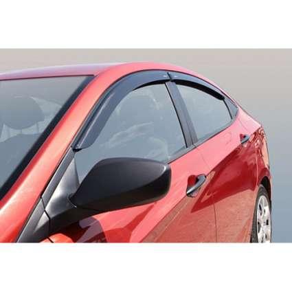 Azard Дефлекторы окон на Hyundai Accent IV '10-17 хэтчбек (ПК, накладные)