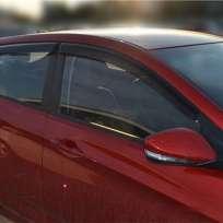 COBRA TUNING Дефлекторы окон на Hyundai Accent IV '10-17 хэтчбек (накладные)