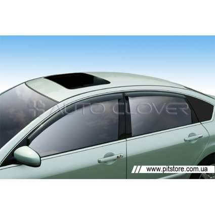 Auto Clover Дефлекторы окон на NISSAN TEANA (J32) '08- (накладные)