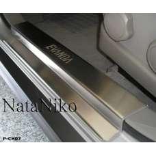 NataNiko Накладки на пороги для CHEVROLET EVANDA '00-06 (Комплект 4 шт.)