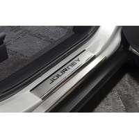 NataNiko Накладки на пороги для Dodge Journey '08- (Premium к-кт 8 шт.)