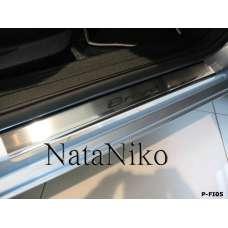 NataNiko Накладки на пороги для FIAT BRAVO II '07- (Комплект 4 шт.)