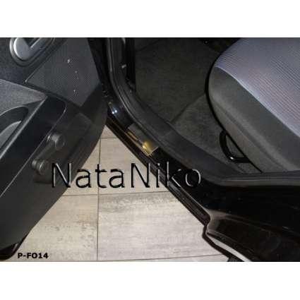 NataNiko Накладки на пороги для Ford Fusion '02-12 (Premium к-кт 4 шт.)