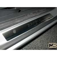 NataNiko Накладки на пороги для Opel Zafira II (B) '05-11 (Premium к-кт 4 шт.)