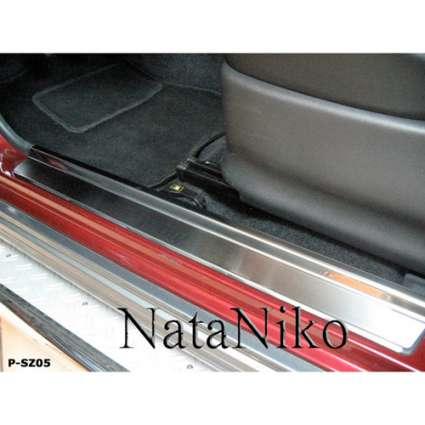 NataNiko Накладки на пороги для Suzuki Jimny IV (JB) '98- (Premium+carbon к-кт 2 шт.)
