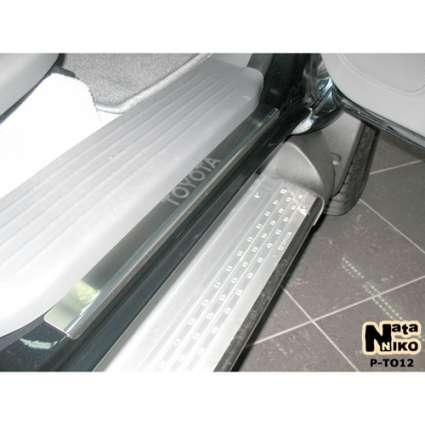 NataNiko Накладки на пороги для Toyota Hilux VII '04-15 4d (Premium к-кт 4 шт.)