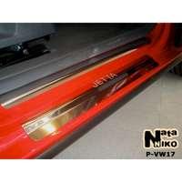 NataNiko Накладки на пороги для Volkswagen Jetta V '05-10 (Premium к-кт 8 шт.)