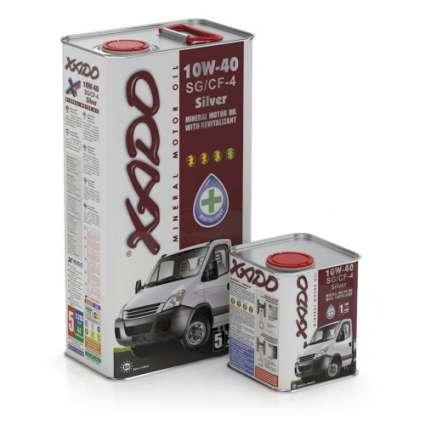XADO Atomic Oil 10W-40 SG/CF-4 Silver минеральное моторное масло (1л)