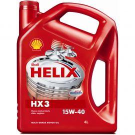 SHELL HELIX HX3 15W-40 минеральное моторное масло