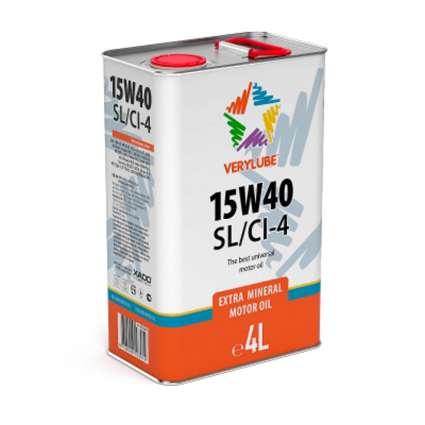 VERYLUBE 15W-40 SL/CI-4 минеральное моторное масло (4л)