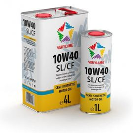 VERYLUBE 10W-40 SL/CF полусинтетическое моторное масло (4л)