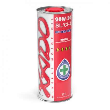 XADO Atomic Oil 20W-50 SL/CI-4 минеральное моторное масло (1л)