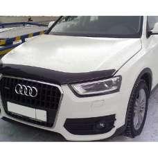 "SIM Audi Q3 '11- Дефлектор капота ""мухобойка"" (темный)"