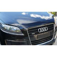 """SIM Audi Q7 I '05-15 Дефлектор капота """"мухобойка"""" (темный)"""
