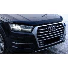"""SIM Audi Q7 II '15- Дефлектор капота """"мухобойка"""" (темный)"""