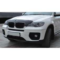 "SIM BMW X5 (E70) '06-13 Дефлектор капота ""мухобойка"" узкий (темный)"