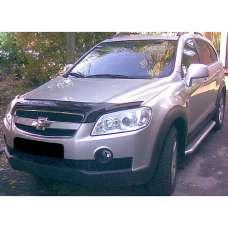 "SIM Chevrolet Captiva '06-11 Дефлектор капота ""мухобойка"" (темный)"
