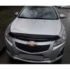 "SIM Chevrolet Cruze II '08- Дефлектор капота ""мухобойка"" (темный)"