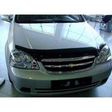 "SIM Chevrolet Lacetti '02- седан Дефлектор капота ""мухобойка"" (темный)"