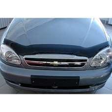 "SIM Chevrolet Lanos/Sens '97- Дефлектор капота ""мухобойка"" (темный)"