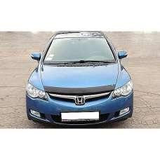"SIM Honda Civic VIII '06-11 седан Дефлектор капота ""мухобойка"" (темный)"