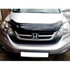 "SIM Honda CR-V III '10-12 Дефлектор капота ""мухобойка"" (темный)"