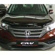 """SIM Honda CR-V IV '12-16 Дефлектор капота """"мухобойка"""" (темный)"""
