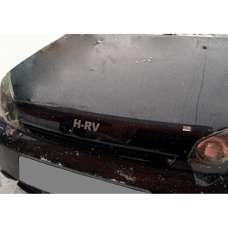 "SIM Honda HR-V I '98-06 Дефлектор капота ""мухобойка"" (темный с логотипом)"