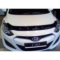 "SIM Hyundai i30 II '12- Дефлектор капота ""мухобойка"" (темный)"