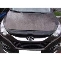 "SIM Hyundai ix35 '10- Дефлектор капота ""мухобойка"" (темный)"