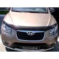 """SIM Hyundai Santa Fe II '06-12 Дефлектор капота """"мухобойка"""" (темный)"""
