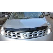 "SIM Nissan Murano (Z50) I '05-08 Дефлектор капота ""мухобойка"" (темный)"
