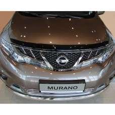 "SIM Nissan Murano (Z51) II '08-14 Дефлектор капота ""мухобойка"" (темный)"