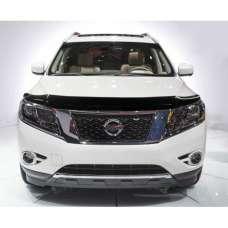 "SIM Nissan Pathfinder (R52) IV '12- Дефлектор капота ""мухобойка"" (темный)"