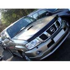 "SIM Nissan Patrol (Y61) '04-13 Дефлектор капота ""мухобойка"" (темный)"